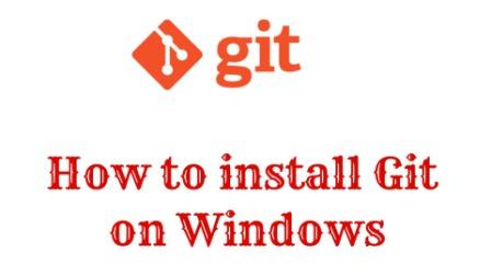 Install git on windows