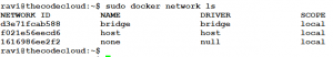 docker network ls