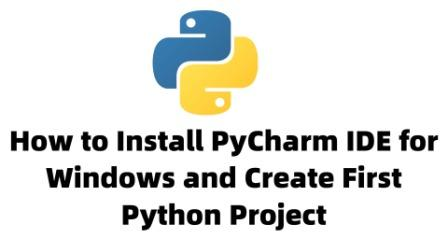 pycharm ide install on wiindows