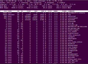 top command in linux