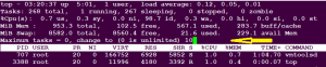top command in linux -number of tasks